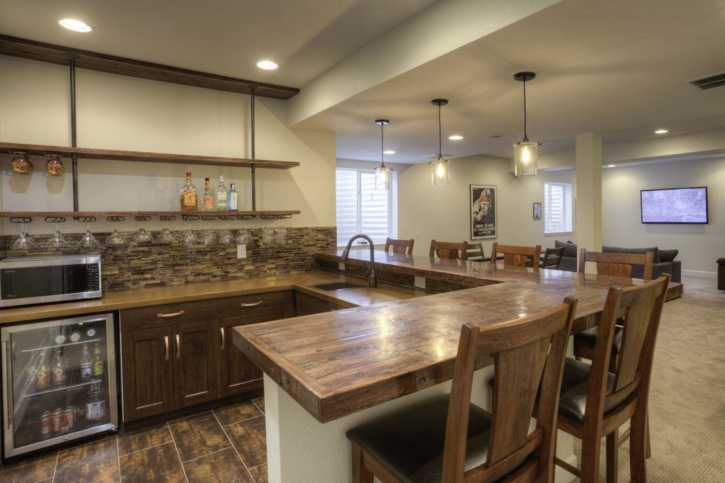 photo of a kitchen after home remodeling
